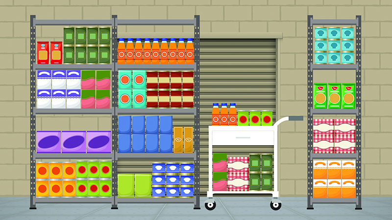 Artist rendering of the newly designed food pantry