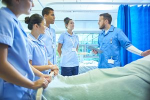 Nursing students in hospital